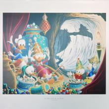 In the Cave of Ali Baba Carl Barks Print - ID: marbarks19145 Walt Disney