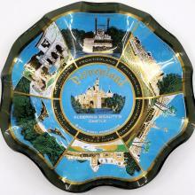 Disneyland Lands Glass Scalloped Bowl - ID: mardisneyland20068 Disneyana