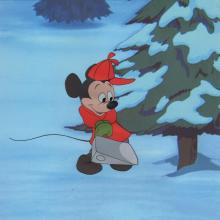 Pluto's Christmas Tree Production Cel - ID: maymickey20014 Walt Disney