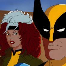 X-Men Production Cel & Background - ID: mayxmen20567 Marvel