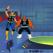 The Fantastic Four Production Cel and Background - ID: octfantasticfour20046 Marvel