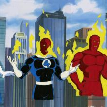 The Fantastic Four Production Cel Sequence - ID: octfantfour20135 Marvel
