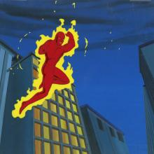Fantastic Four Production Cel and Background - ID: octfantfour20229 Marvel
