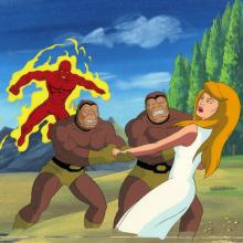 Fantastic Four Production Cel and Background - ID: octfantfour20236 Marvel