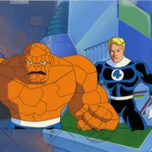 Fantastic Four Production Cel and Background - ID: octfantfour20242 Marvel