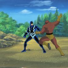 Fantastic Four Production Cel and Background - ID: octfantfour20248 Marvel