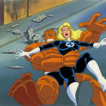 Fantastic Four Production Cel and Background - ID: octfantfour20254 Marvel