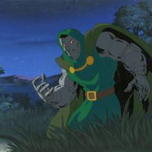 Fantastic Four Production Cel and Background - ID: octfantfour20271 Marvel