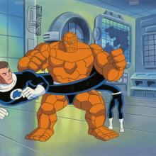 Fantastic Four Production Cel and Background - ID: octfantfour20278 Marvel