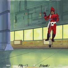 Fantastic Four Production Cel and Background - ID: octfantfour20285 Marvel