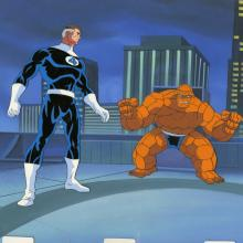 Fantastic Four Production Cel and Background - ID: octfantfour20292 Marvel