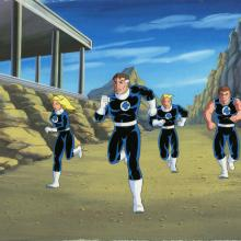 Fantastic Four Production Cel and Background - ID: octfantfour20298 Marvel