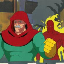 Fantastic Four Production Cel and Background - ID: octfantfour20307 Marvel