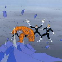 Fantastic Four Production Cel and Background - ID: octfantfour20323 Marvel