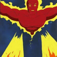 Fantastic Four Production Cel and Background - ID: octfantfour20326 Marvel