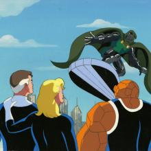 Fantastic Four Production Cel and Background - ID: octfantfour20409 Marvel