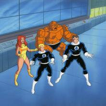 Fantastic Four Production Cel and Background - ID: octfantfour20417 Marvel