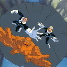 Fantastic Four Production Cel and Background - ID: octfantfour20420 Marvel