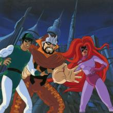Fantastic Four Production Cel and Background - ID: octfantfour20430 Marvel