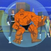 Fantstic Four Production Cel and Background - ID: octfantfour20457 Marvel
