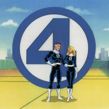 Fantastic Four Production Cel - ID: octfantfour20689 Marvel