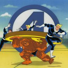 Fantastic Four Production Cel - ID: octfantfour20713 Marvel