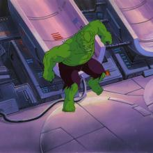 Incredible Hulk Production Cel and Background - ID: octhulk20449 Marvel