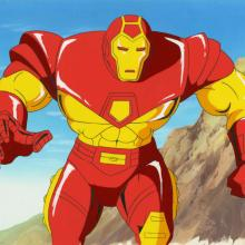Iron Man Production Cel and Background - ID: octironman20347 Marvel