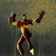 Iron Man Production Cel and Background - ID: octironman20361 Marvel