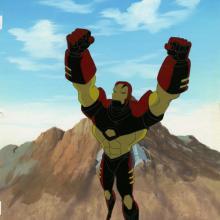 Iron Man Production Cel and Background - ID: octironman20379 Marvel