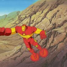 Iron Man Production Cel and Background - ID: octironman20389 Marvel