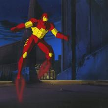 Iron Man Production Cel and Background - ID: octironman20439 Marvel