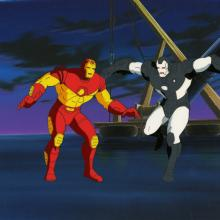 Iron Man Production Cel and Background - ID: octironman20442 Marvel