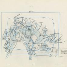 X-Men Layout Drawing - ID: octxmen20013 Marvel