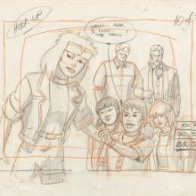X-Men Layout Drawing - ID: octxmen20057 Marvel