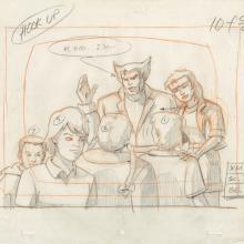 X-Men Layout Drawing - ID: octxmen20058 Marvel