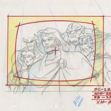 X-Men Layout Drawing - ID: octxmen20065 Marvel