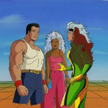 X-Men Production Cel and Background - ID: octxmen20757 Marvel