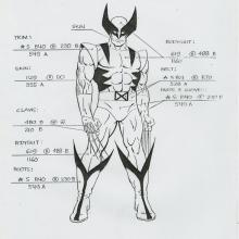 X-Men Xerox Model Sheet - ID: octxmen20800 Marvel