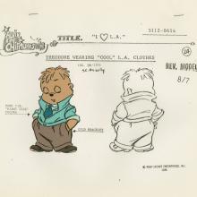 Alvin and the Chipmunks Model Cel - ID: septalvin20153 Bagdasarian