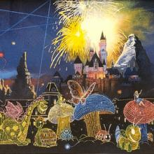 Main Street Electrical Parade Signed Charles Boyer Print Disneyana