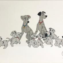101 Dalmatians Limited Edition Sericel - ID: septdalmatians20071 Walt Disney