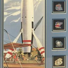 The Atomic Age Limited Edition Pin and Print Set - ID: septdisneyana20005 Disneyana