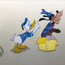 Goofy and Donald Duck Production Cel - ID: septdisneyana20013 Walt Disney