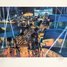 Hollywood Land Cast Member Exclusive Dan Goozee Signed Lithograph - ID: septdisneyana20037 Disneyana