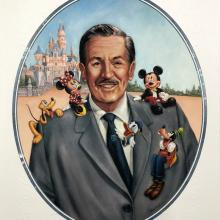 Walt Disney's 100th Birthday Cast Member Exclusive Lithograph - ID: septdisneyana20040 Disneyana