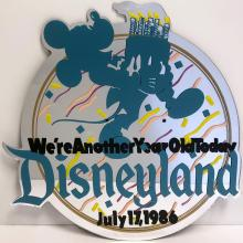 Disneyland 31st Birthday Lamppost Sign - ID: septdisneyland20007 Disneyana