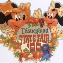 Disneyland State Fair Lamppost Sign - ID: septdisneyland20010 Disneyana