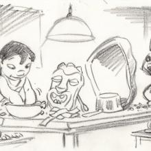 Lilo and Stitch Storyboard Drawing - ID: septlilo20052 Walt Disney