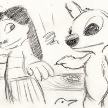 Lilo and Stitch Storyboard Drawing - ID: septlilo20054 Walt Disney